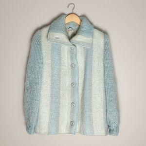 Vintage Mohair and wool winter knit sweater.